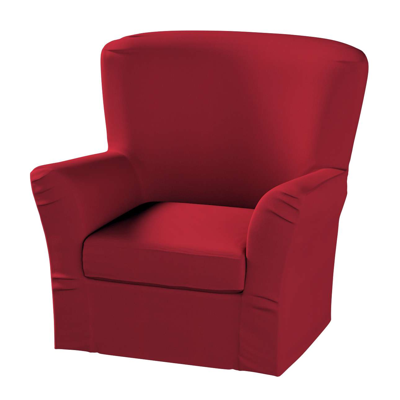 Pokrowiec na fotel Tomelilla z zakładkami w kolekcji Chenille, tkanina: 702-24