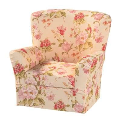 Pokrowiec na fotel Tomelilla z zakładkami w kolekcji Londres, tkanina: 123-05