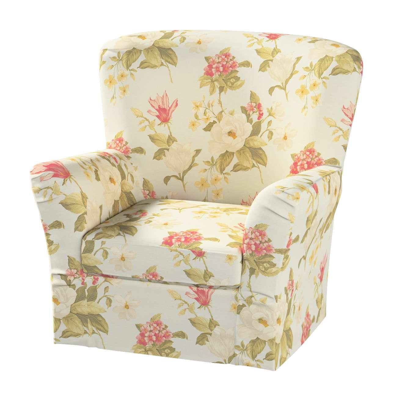 Pokrowiec na fotel Tomelilla z zakładkami fotel Tomelilla w kolekcji Londres, tkanina: 123-65