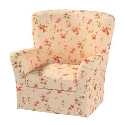 Pokrowiec na fotel Tomelilla z zakładkami w kolekcji Londres, tkanina: 124-05
