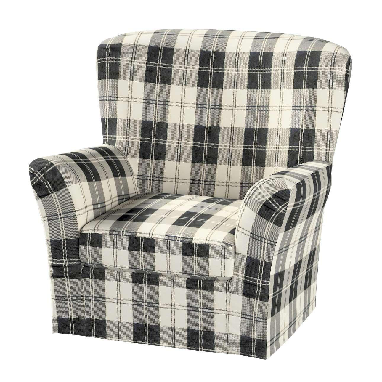 Pokrowiec na fotel Tomelilla z zakładkami fotel Tomelilla w kolekcji Edinburgh, tkanina: 115-74
