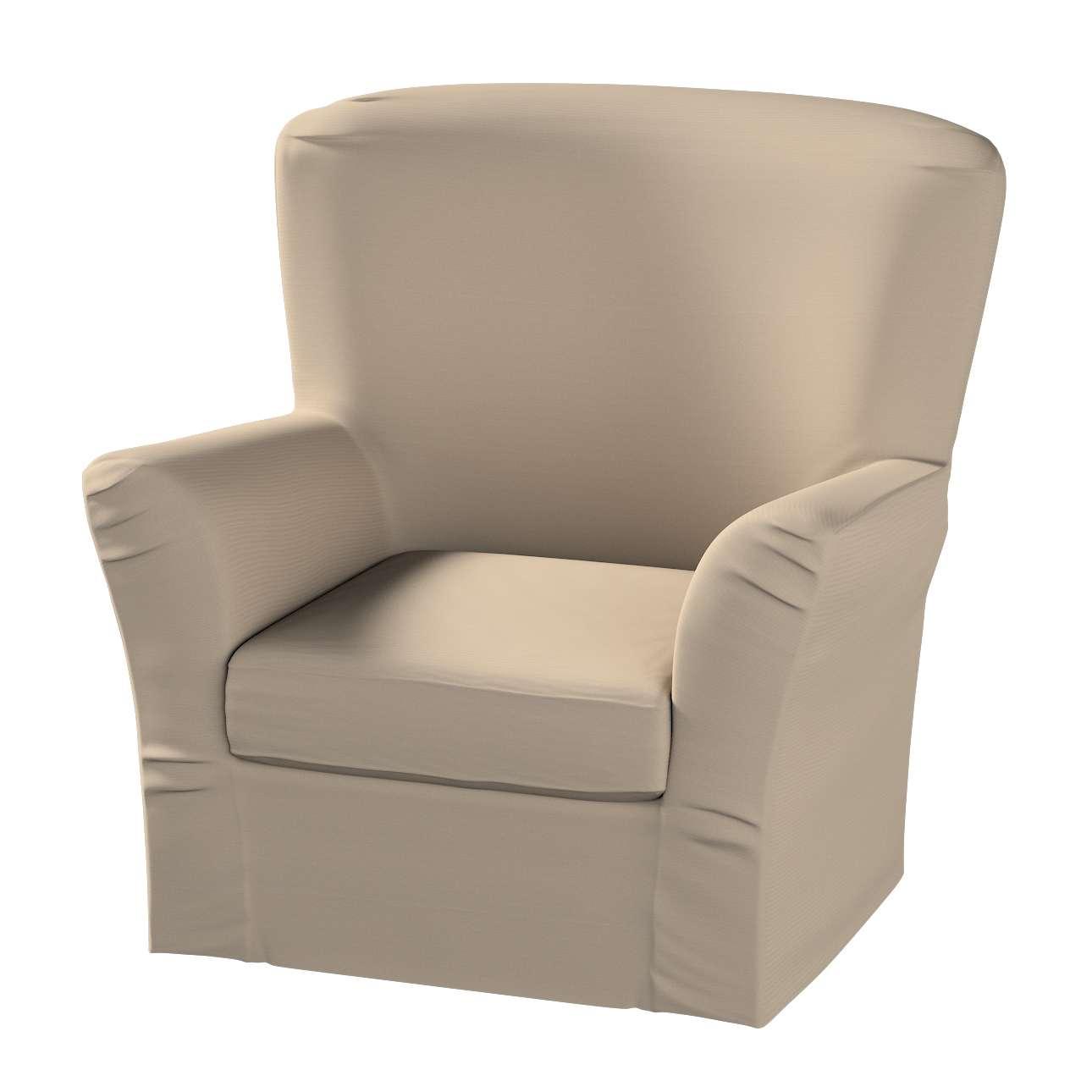Pokrowiec na fotel Tomelilla z zakładkami fotel Tomelilla w kolekcji Cotton Panama, tkanina: 702-28