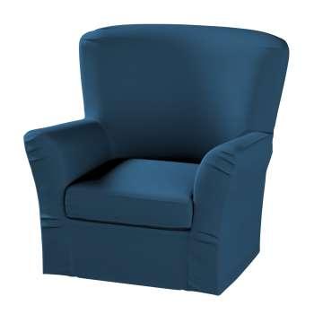 Pokrowiec na fotel Tomelilla z zakładkami fotel Tomelilla w kolekcji Cotton Panama, tkanina: 702-30