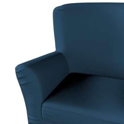 Pokrowiec na fotel Tomelilla z zakładkami w kolekcji Cotton Panama, tkanina: 702-30