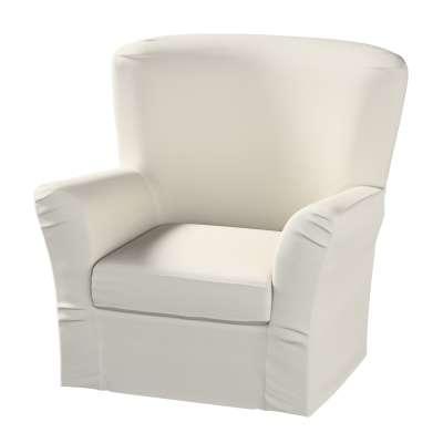 Pokrowiec na fotel Tomelilla z zakładkami w kolekcji Cotton Panama, tkanina: 702-31