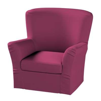Pokrowiec na fotel Tomelilla z zakładkami w kolekcji Cotton Panama, tkanina: 702-32