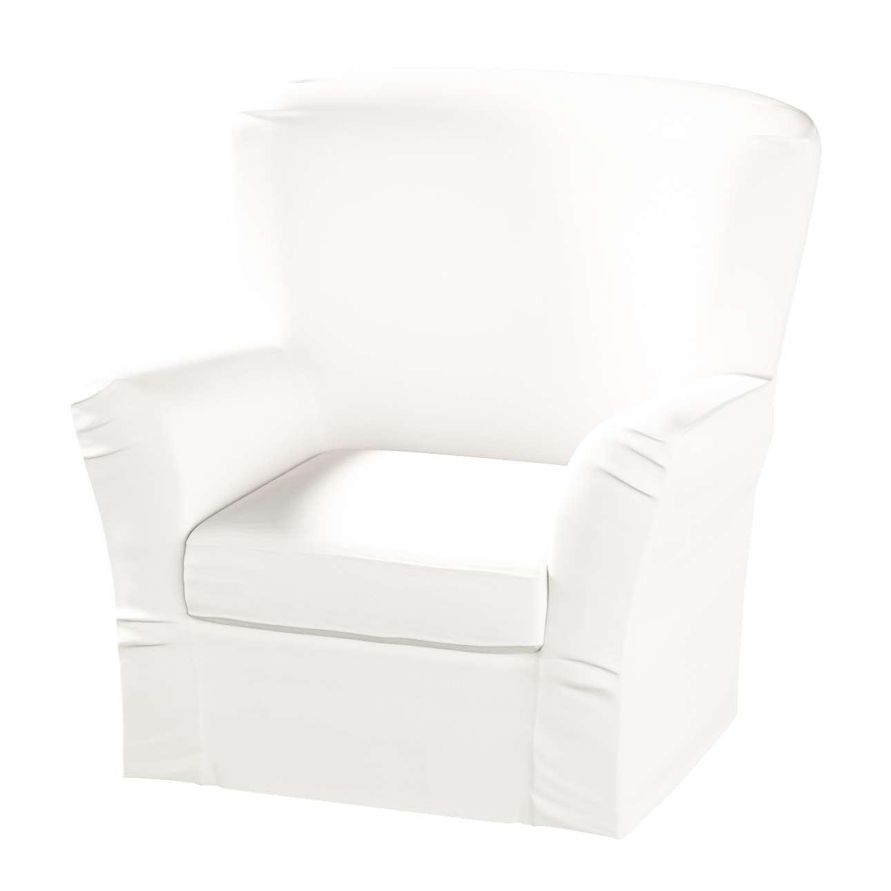 Pokrowiec na fotel Tomelilla z zakładkami fotel Tomelilla w kolekcji Cotton Panama, tkanina: 702-34