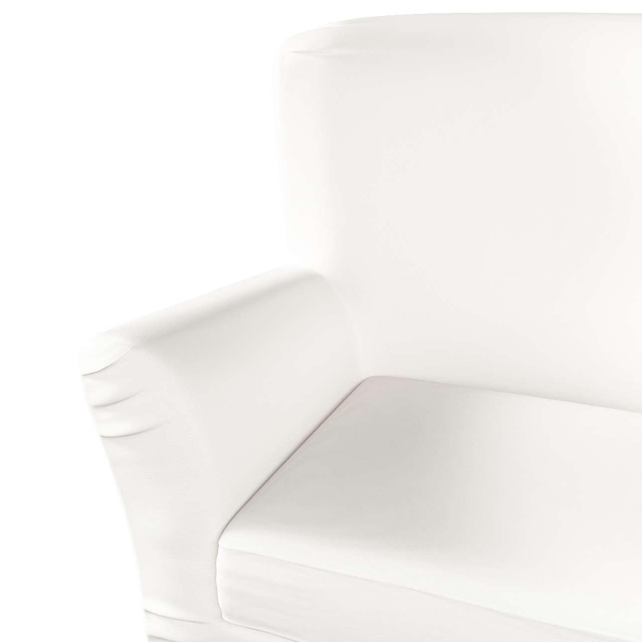 Pokrowiec na fotel Tomelilla z zakładkami w kolekcji Cotton Panama, tkanina: 702-34