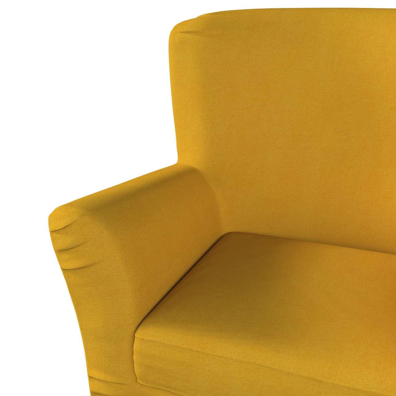 Pokrowiec na fotel Tomelilla z zakładkami w kolekcji Etna, tkanina: 705-04