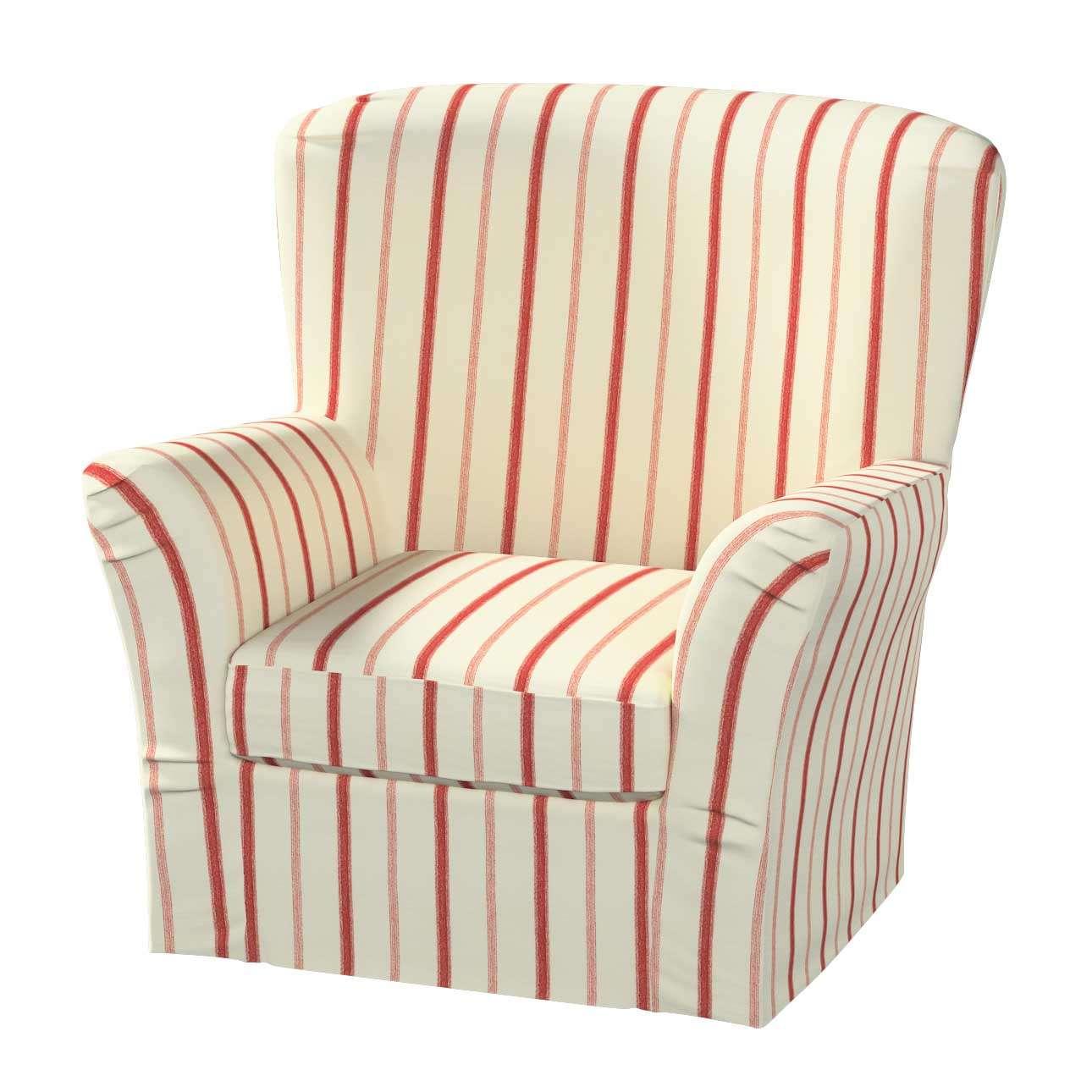 Pokrowiec na fotel Tomelilla z zakładkami fotel Tomelilla w kolekcji Avinon, tkanina: 129-15
