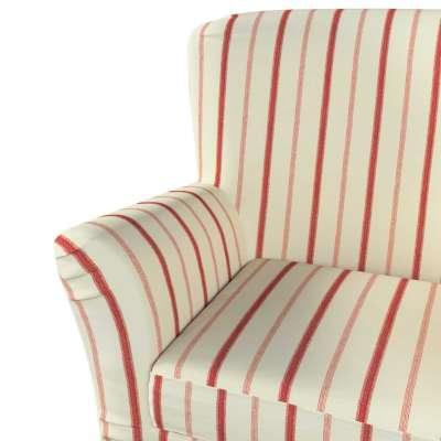 Pokrowiec na fotel Tomelilla z zakładkami w kolekcji Avinon, tkanina: 129-15