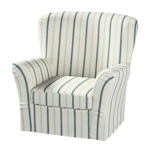Pokrowiec na fotel Tomelilla z zakładkami fotel Tomelilla w kolekcji Avinon, tkanina: 129-66