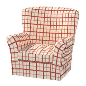 Pokrowiec na fotel Tomelilla z zakładkami fotel Tomelilla w kolekcji Avinon, tkanina: 131-15