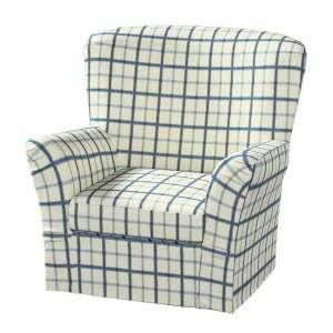 Pokrowiec na fotel Tomelilla z zakładkami fotel Tomelilla w kolekcji Avinon, tkanina: 131-66