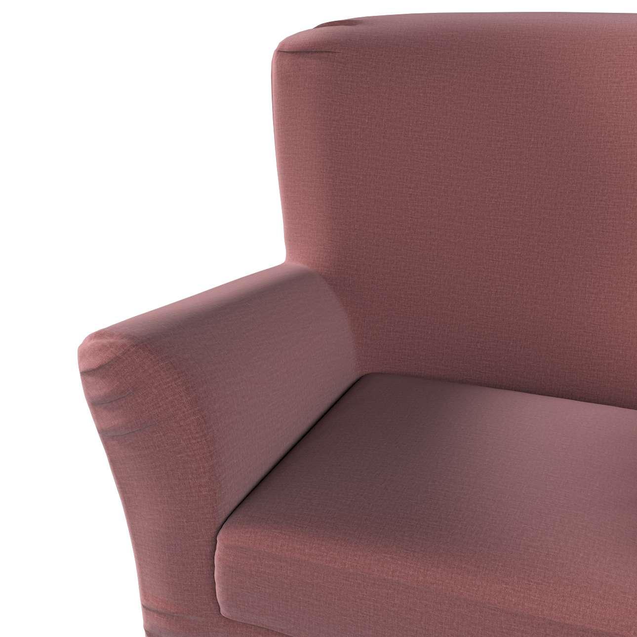 Pokrowiec na fotel Tomelilla z zakładkami w kolekcji Ingrid, tkanina: 705-38