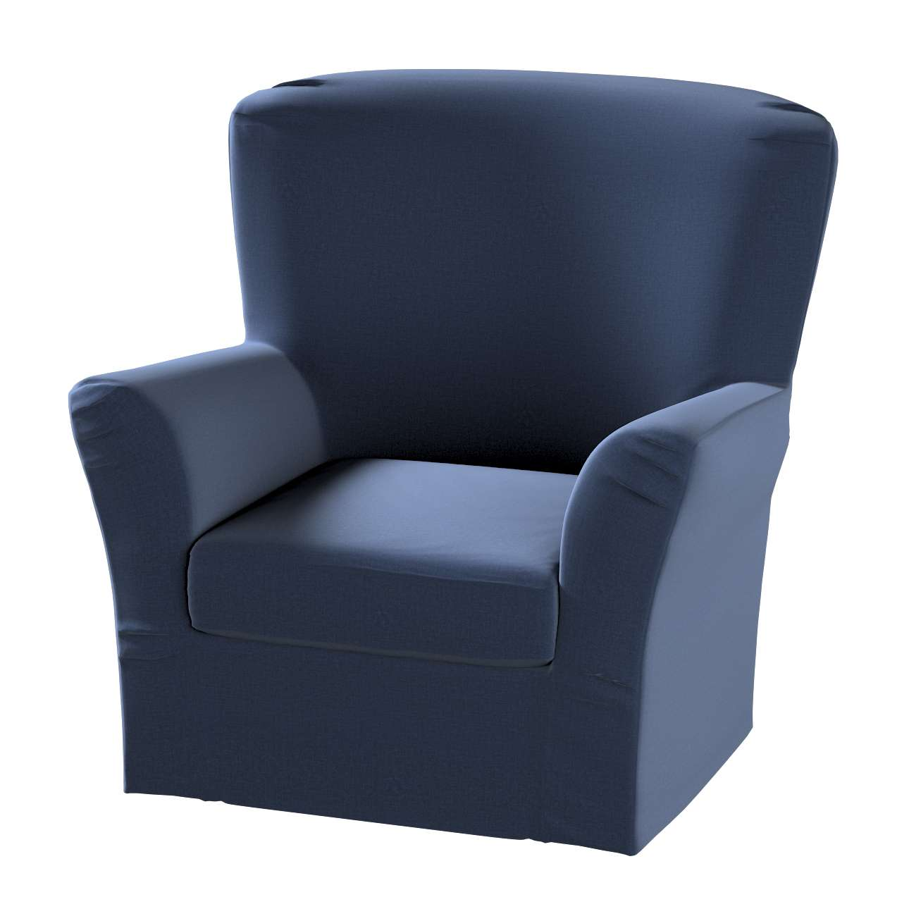 Pokrowiec na fotel Tomelilla z zakładkami w kolekcji Ingrid, tkanina: 705-39
