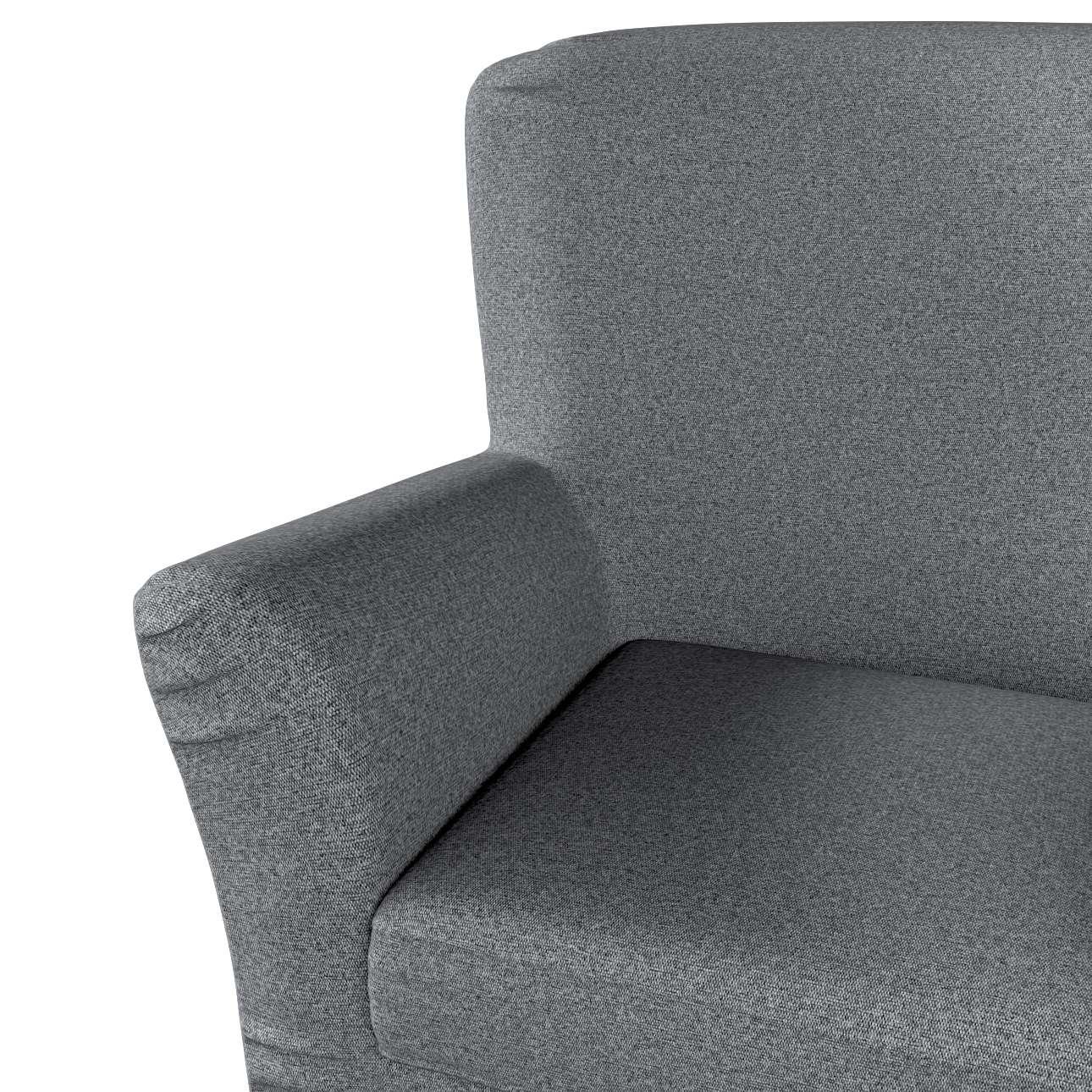 Pokrowiec na fotel Tomelilla z zakładkami w kolekcji Amsterdam, tkanina: 704-47