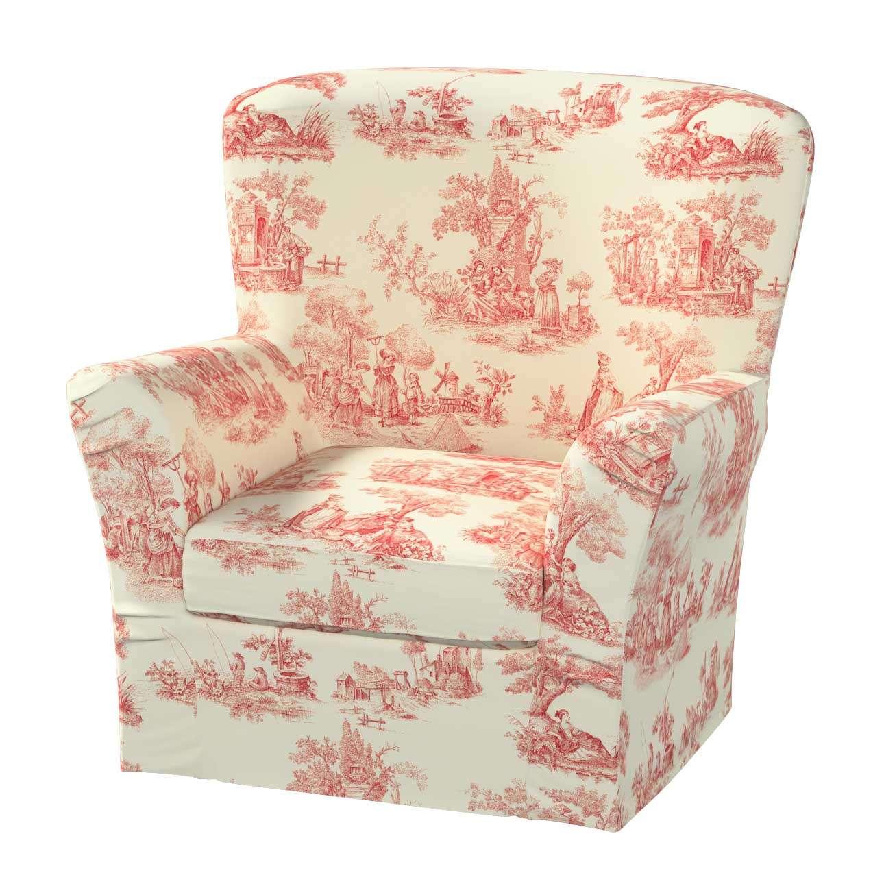 Pokrowiec na fotel Tomelilla z zakładkami fotel Tomelilla w kolekcji Avinon, tkanina: 132-15