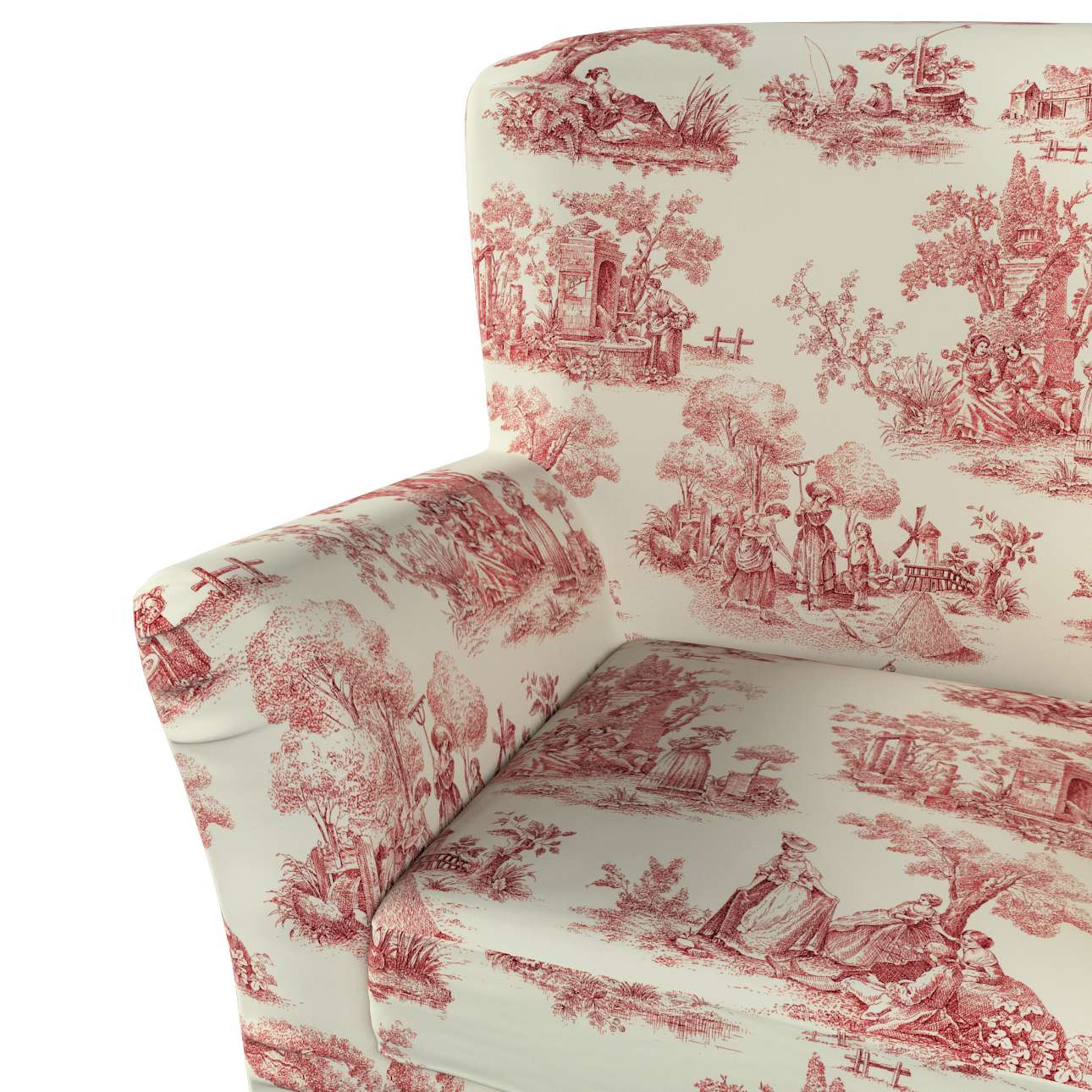 Pokrowiec na fotel Tomelilla z zakładkami w kolekcji Avinon, tkanina: 132-15