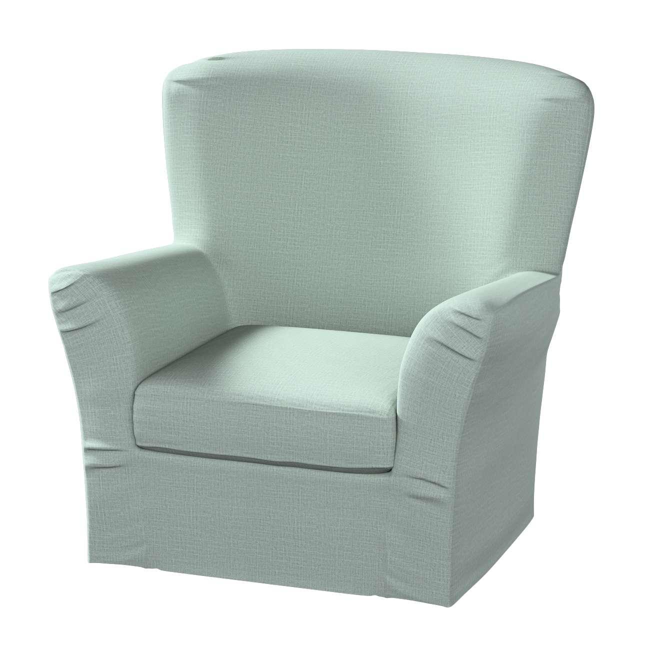 Pokrowiec na fotel Tomelilla z zakładkami w kolekcji Living, tkanina: 160-86