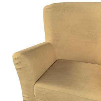 Pokrowiec na fotel Tomelilla z zakładkami 160-93 piaskowy szenil Kolekcja Living II