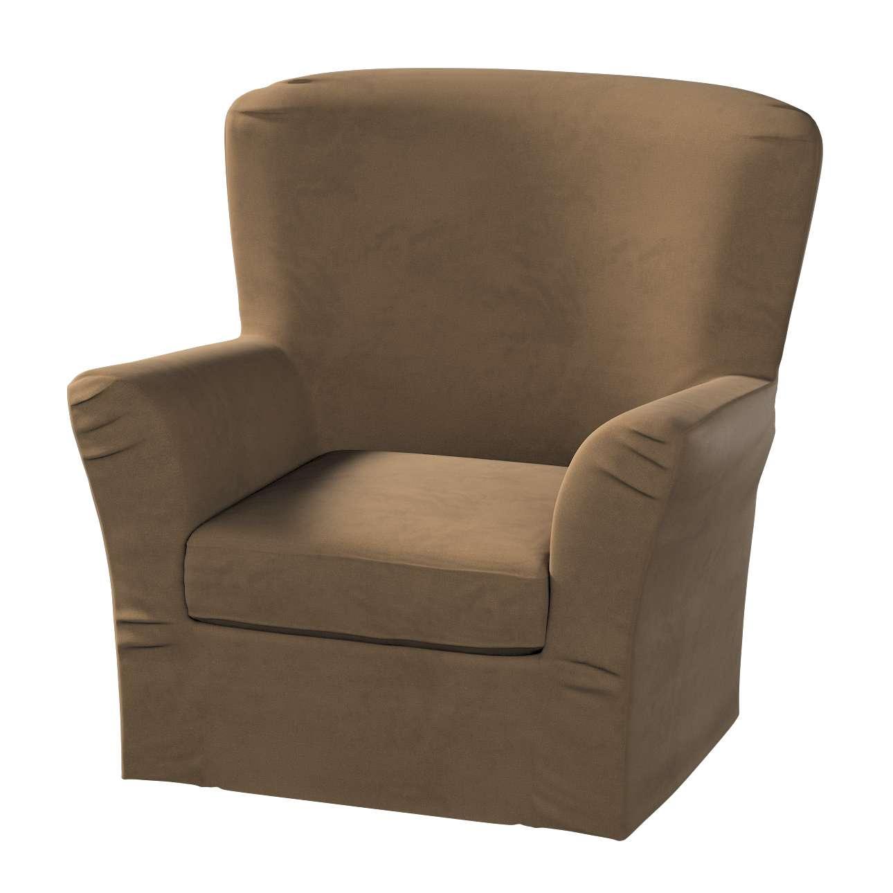 Pokrowiec na fotel Tomelilla z zakładkami w kolekcji Living, tkanina: 160-94