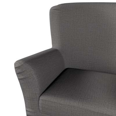 Pokrowiec na fotel Tomelilla z zakładkami 161-16 ciemno szary Kolekcja Living II