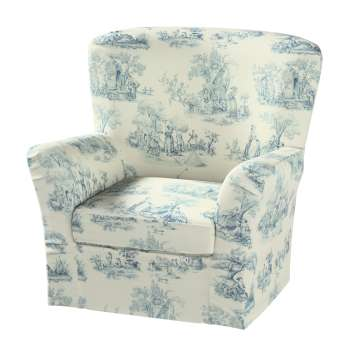 Pokrowiec na fotel Tomelilla z zakładkami fotel Tomelilla w kolekcji Avinon, tkanina: 132-66