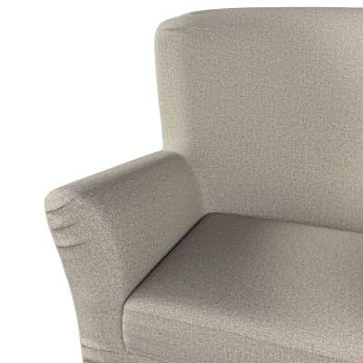 Pokrowiec na fotel Tomelilla z zakładkami 161-23 szaro-beżowy melanż Kolekcja Madrid