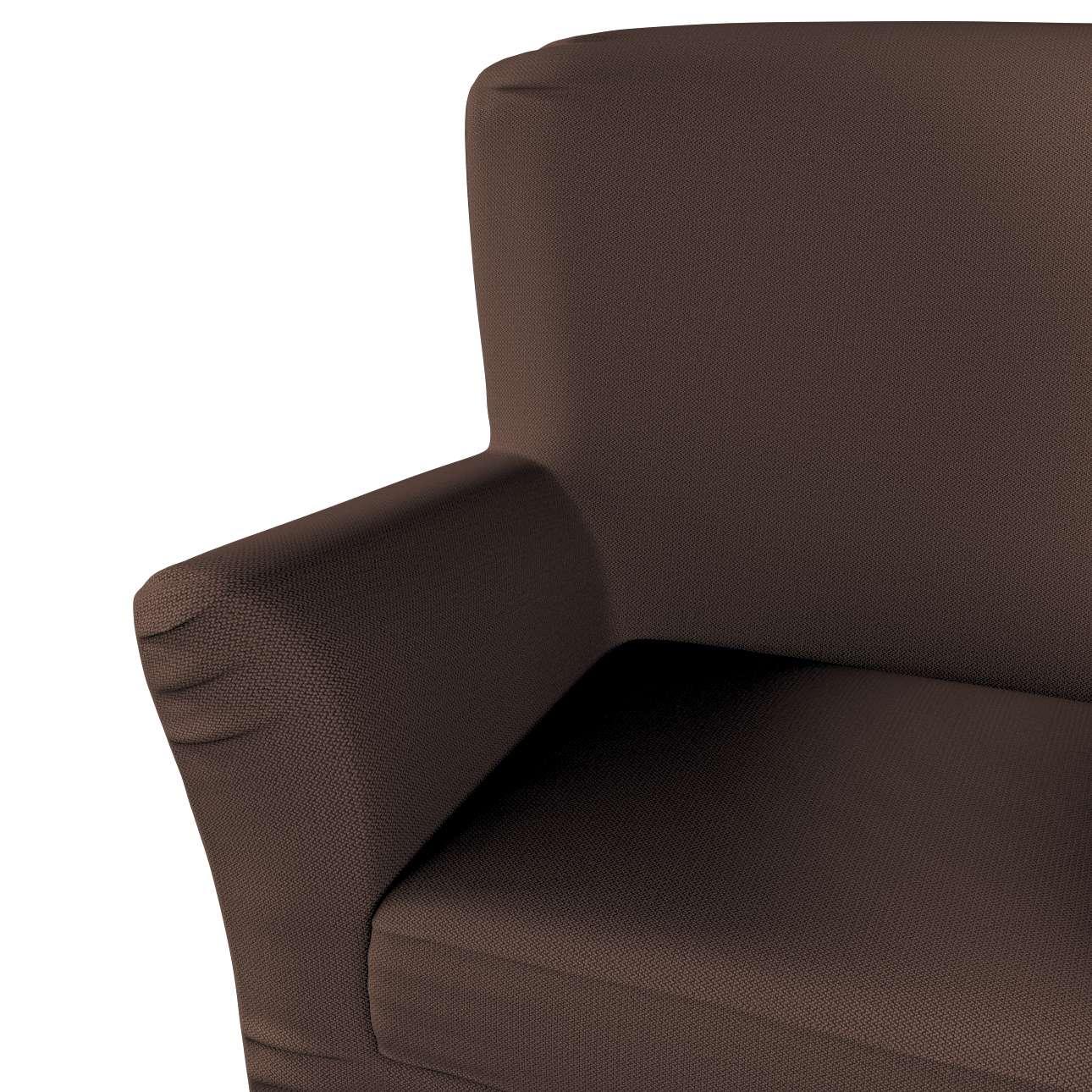 Pokrowiec na fotel Tomelilla z zakładkami w kolekcji Bergen, tkanina: 161-73