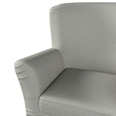 Pokrowiec na fotel Tomelilla z zakładkami 161-83 jasno szara jodełka Kolekcja Bergen