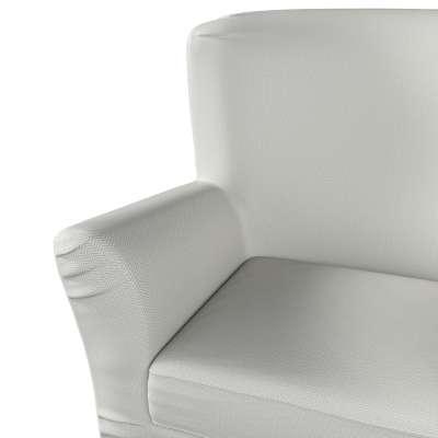 Pokrowiec na fotel Tomelilla z zakładkami 161-84 srebrno-szara jodełka Kolekcja Bergen