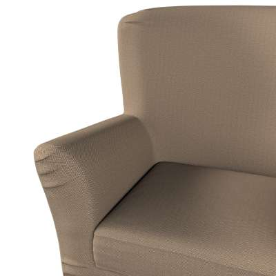 Pokrowiec na fotel Tomelilla z zakładkami w kolekcji Bergen, tkanina: 161-85