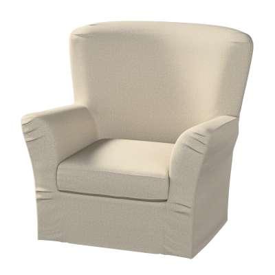Pokrowiec na fotel Tomelilla z zakładkami w kolekcji Amsterdam, tkanina: 704-52