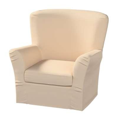 Pokrowiec na fotel Tomelilla z zakładkami 160-61 ecru Kolekcja Living