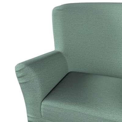Pokrowiec na fotel Tomelilla z zakładkami 161-89 szara mięta melanż Kolekcja Madrid
