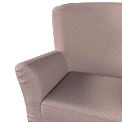 Pokrowiec na fotel Tomelilla z zakładkami 161-88 szaro - różowy melanż Kolekcja Madrid