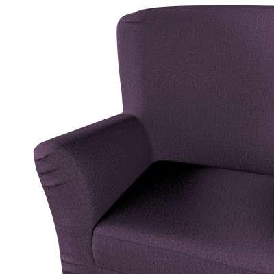 Pokrowiec na fotel Tomelilla z zakładkami 161-67 fioletowy szenil Kolekcja Living