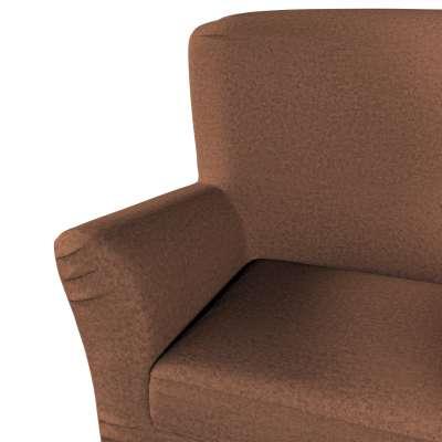 Pokrowiec na fotel Tomelilla z zakładkami 161-65 brunatny szenil Kolekcja Living