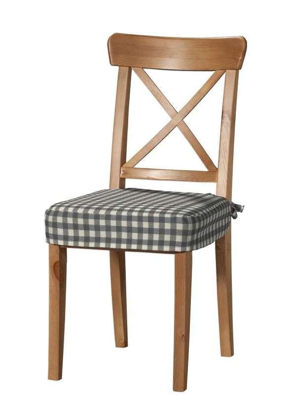 Sitzkissen geeignet für das Ikea Modell Ingolf  Modell Inglof von der Kollektion Quadro, Stoff: 136-11