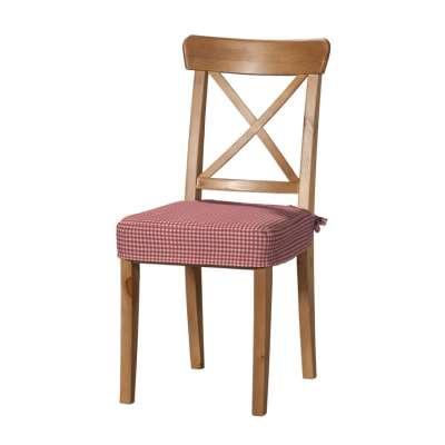 Sedák na stoličku Ingolf 136-15 červeno-biele malé káro Kolekcia Quadro