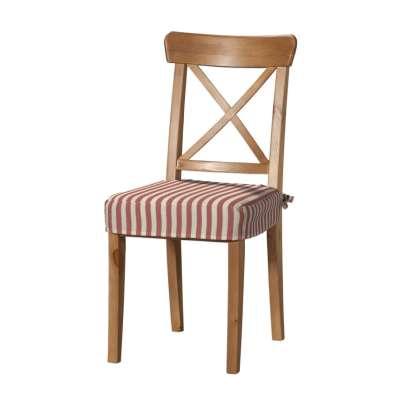 Sedák na stoličku Ingolf 136-17 červeno-biele prúžky Kolekcia Quadro
