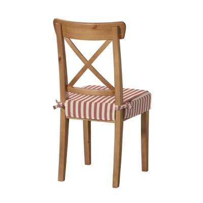 Sitzkissen geeignet für das Ikea Modell Ingolf 136-17 rot-ecru  Kollektion Quadro