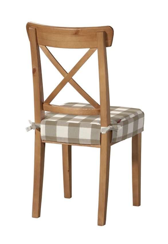 Sitzkissen geeignet für das Ikea Modell Ingolf  Modell Inglof von der Kollektion Quadro, Stoff: 136-08