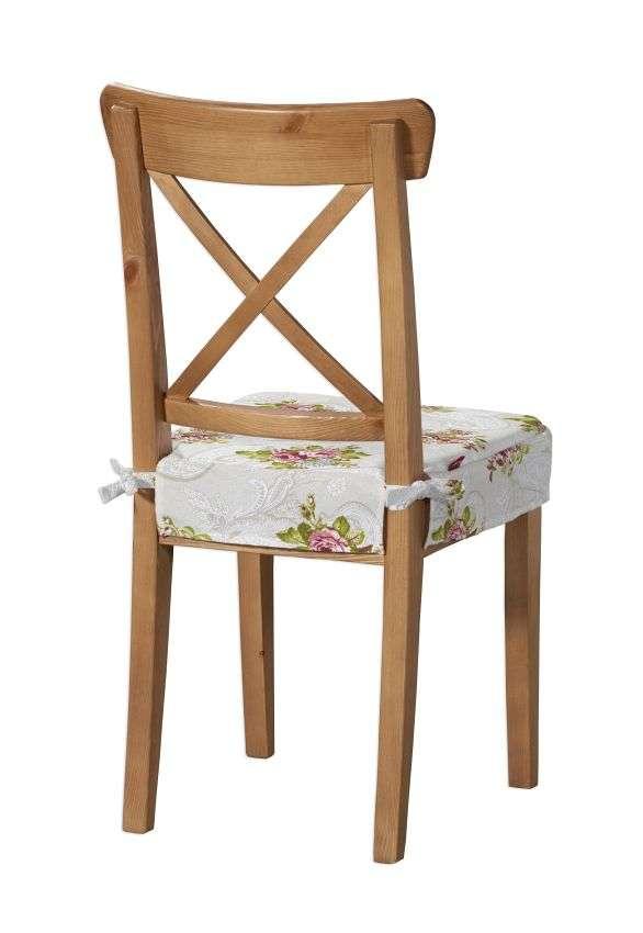 Siedzisko na krzesło Ingolf krzesło Inglof w kolekcji Flowers, tkanina: 311-15