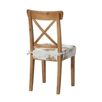 Sitzkissen geeignet für das Ikea Modell Ingolf  Modell Inglof von der Kollektion Flowers, Stoff: 311-15