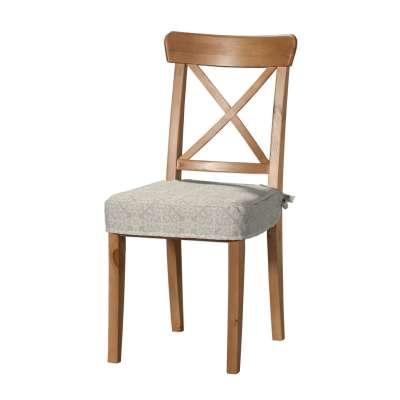 Siedzisko na krzesło Ingolf 140-39 wzory na beżowym tle Kolekcja Flowers
