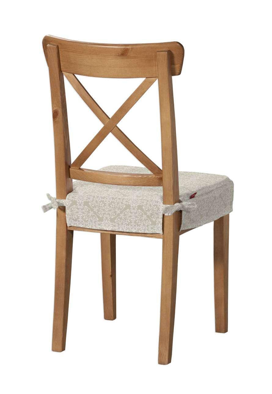 Siedzisko na krzesło Ingolf krzesło Inglof w kolekcji Flowers, tkanina: 140-39