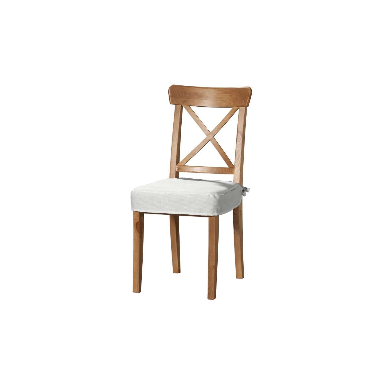 Dekoria Sedák na židli IKEA Ingolf, bílá, židle Inglof, Jupiter, 127-01