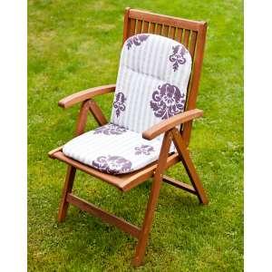 Materac ogrodowy 94x40x3,5cm szaro-biało-fioletowy 94 x 40 x 3,5 cm